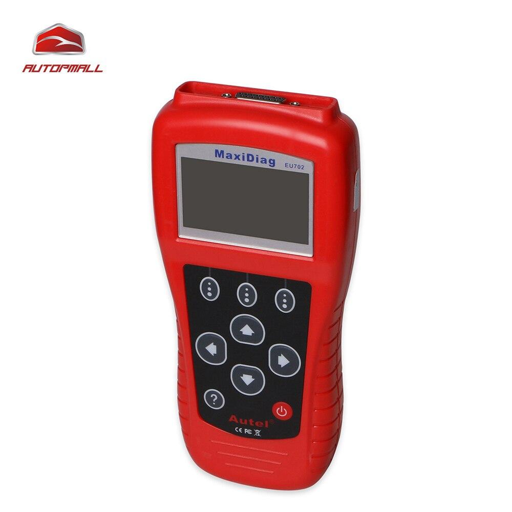 Autel maxidiag eu702 code reader obdii eobd coverage scan tool retrieves vehicle information vin cid