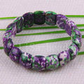 "Free Shipping New without tags Fashion Jewelry Stretch Multicolor Ocean Jasper Bracelet 8"" 1Pcs RH925"