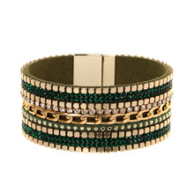 ORNAPEADIA Summer New Hot Bohemia bracelet Magazine big brand light luxury chain gem Leather Bangles for women gift wholesales