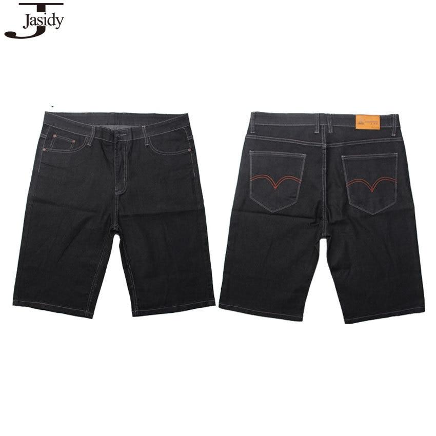 38 50 Plus Size Short Jeans Men Casual Calf length Pants Baggy ...