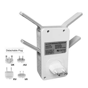 PIX-LINK New 1200Mbps Wireless-AC Dual Band Repeater/AP Wireless Range Extender wifi signal amplifier with 4 External Antennas
