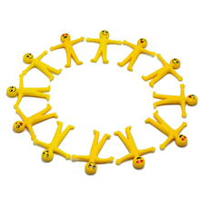 10 Pcs Decompression Toys Party Baby Little Yellow Man Office Decor Children Can Pull Body Emoji Puppet Gift Creative Chi