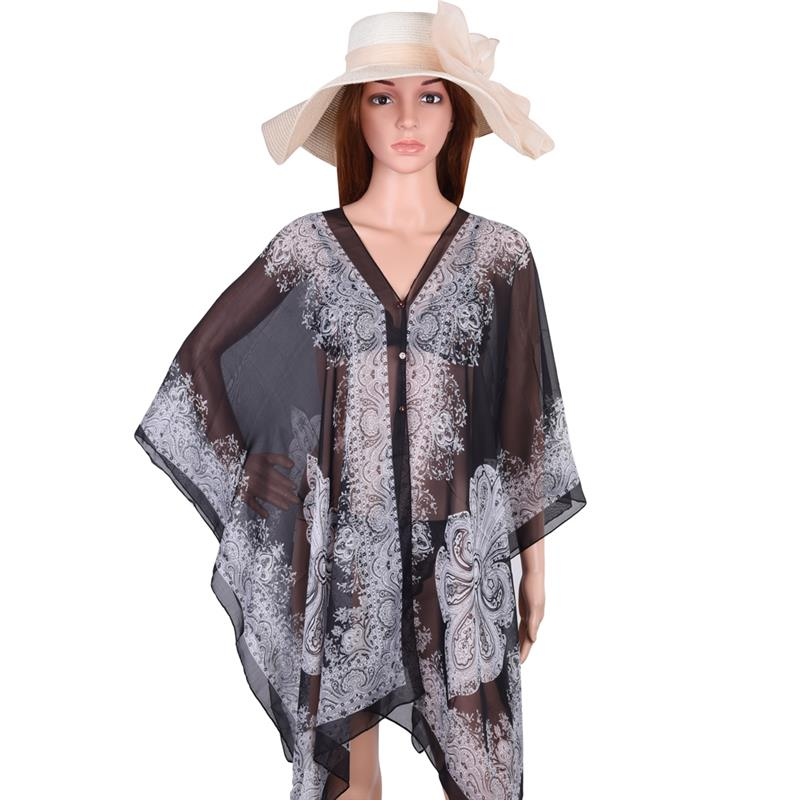 ddbf4a472a Women Beach Cover Up Print Floral Sunproof Bikini Swimsuit Cover Ups  Bathing Suit Cover Up Scarf ...