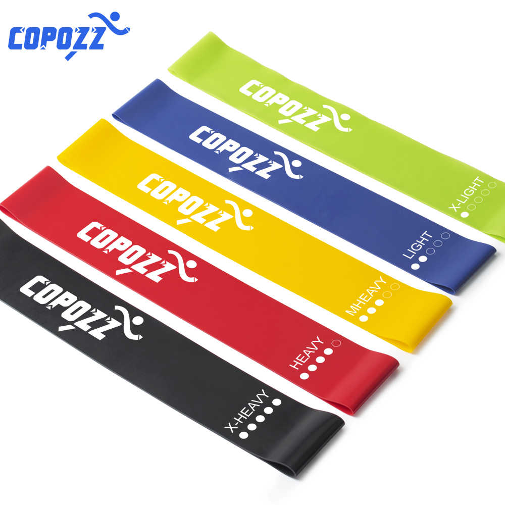 COPOZZ Weerstand Bands 30cm Fitness Expander Natuurlijke Latex Sport Workout Rubber Elasitc Band voor Fitness Thuis Gym Yoga Oefening