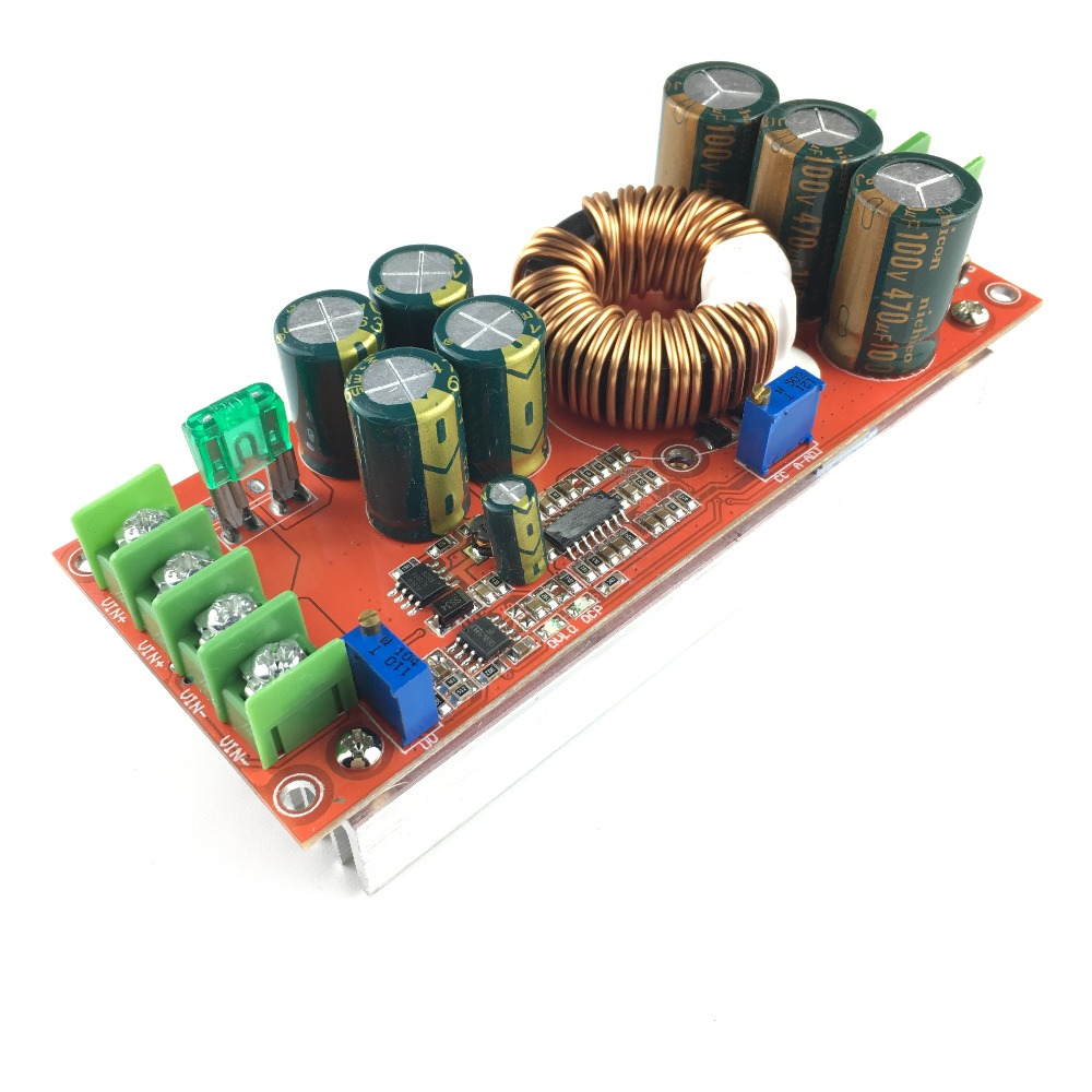 DC 20A 1200W Step-Up Boost Constant Current Module Variable Voltage Power Supply IN 8-60V Step Up ModuleDC 20A 1200W Step-Up Boost Constant Current Module Variable Voltage Power Supply IN 8-60V Step Up Module