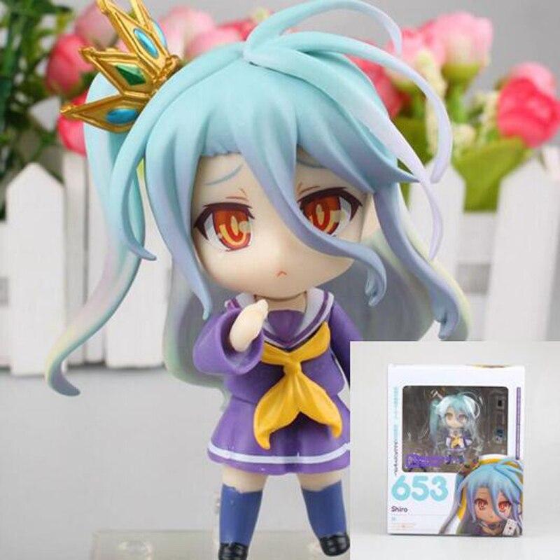 Anime abbildung Kein Spiel Kein Leben Nendoroid 652 #653 #2 stil nette action Nendoroid abbildung sammeln nettes modell spielzeug 10 cm T7027