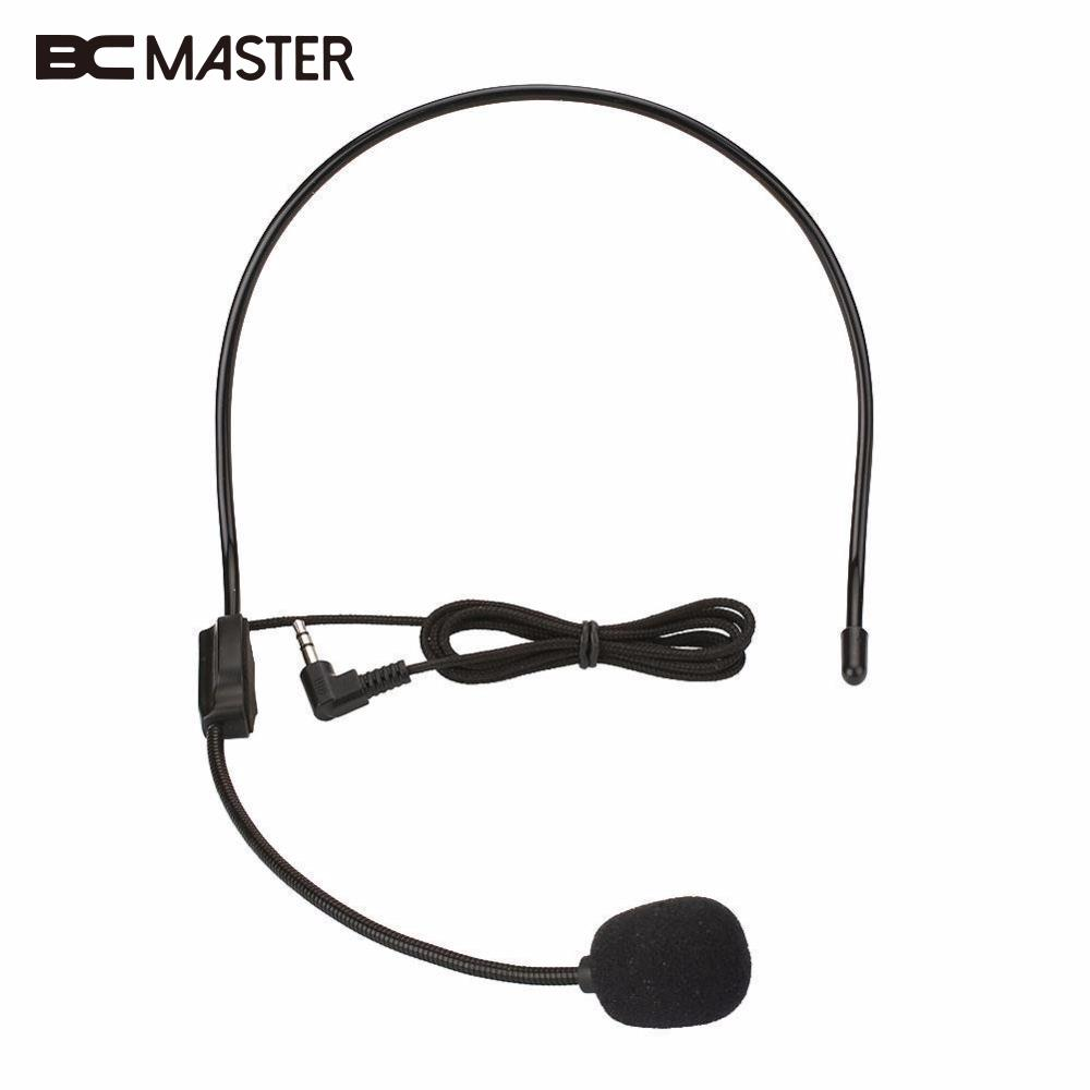 bcmaster 3 5mm wired headworn microphone metal microfono