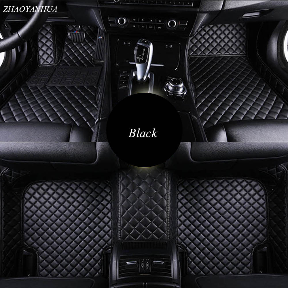 ZHAOYANHUA Car floor mats for Peugeot 206 207 2008 301 307 308sw 3008 408 4008 508 rcz car styling carpet floor liner