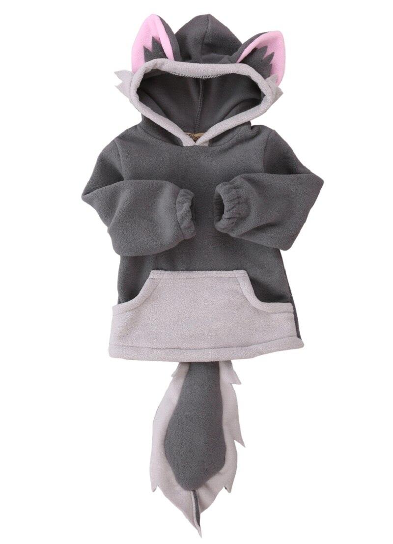 Дети девочка мальчик оптовая флис животного милый мультфильм лиса пальто с капюшоном Детская Пальто для будущих мам Косплэй костюм верхняя...