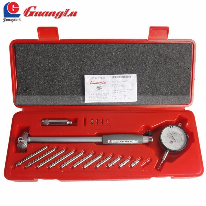 GUANGLU циферблат диаметр калибра 50-160 мм/0,01 мм Центр Кольцо циферблат индикатор микрометр датчики измерительные инструменты
