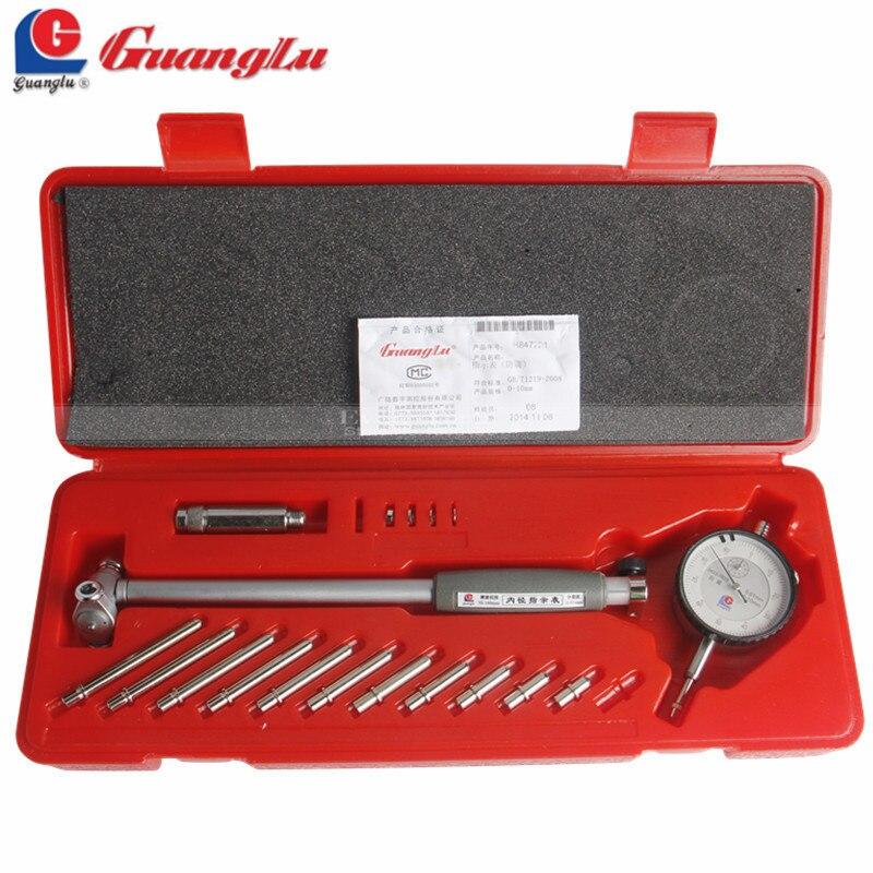 GUANGLU циферблат отверстие Калибр 50-160 мм/0,01 мм Центр Кольцо циферблат индикатор микрометр измерительные приборы