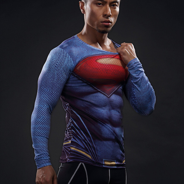 a1fb095e Mens Football Jerseys Compression 3D T Shirts Breathable Superhero Fitness  Tee Shirts Tops Spiderman Tights