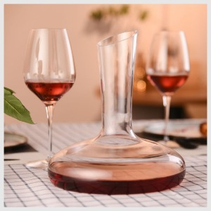 Image 3 - Original 1500ML Circle Joy Round Crystal Decanter Wine Decanter Crystal Glass Wine Pourer Wine Carafe Aerator