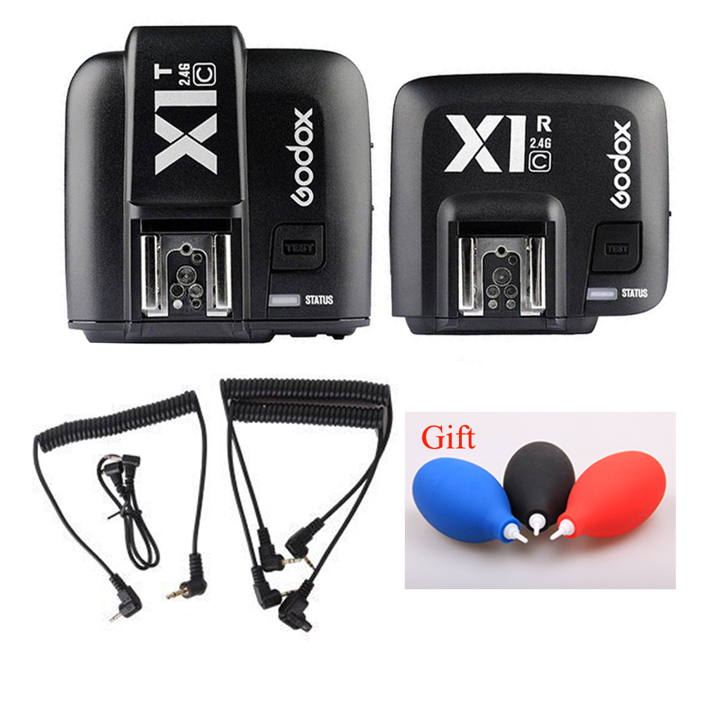 GODOX X1C TTL Flash Trigger 1/8000s HSS 32 Channels 2.4G Wireless Trigger Transmitter Receiver Camera Shutter Release For Canon купить недорого в Москве