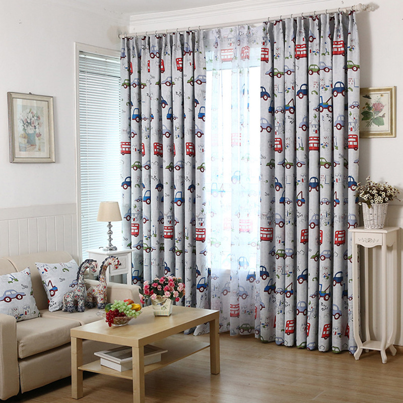 Custom curtains children cartoon Korean children s room style bedroom  curtain screens semi shade cloth cartoon car. Compare Prices on Bedroom Curtain Styles  Online Shopping Buy Low