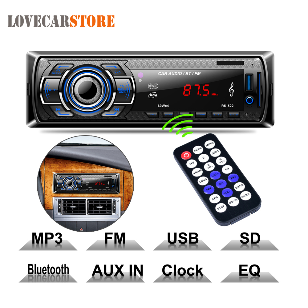 12V Bluetooth Auto font b Car b font font b Radio b font MP3 Player Vehicle