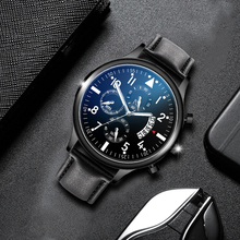 Casual Business Watches Men Quartz Luxury Chronograph Wristwatch Leather Strap Male Clock Relogio Masculino Drop Shipping men s watches luxury wristwatch men casual quartz business sport watch leather clock relogio masculino hodinky ceasuri saat