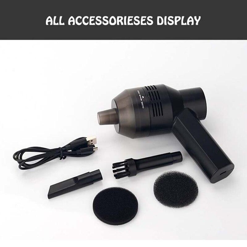 Image 5 - Portable Mini Handheld USB Keyboard Vacuum Cleaner for Laptop Desktop PC Black