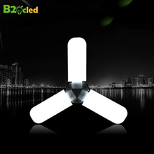 E27 LED Lamp SMD2835 AC 85-265V 45W Foldable Trefoil led Light Bulbs Chandelier Home Decoration Ampoule CRI 90 Cold White 3500LM