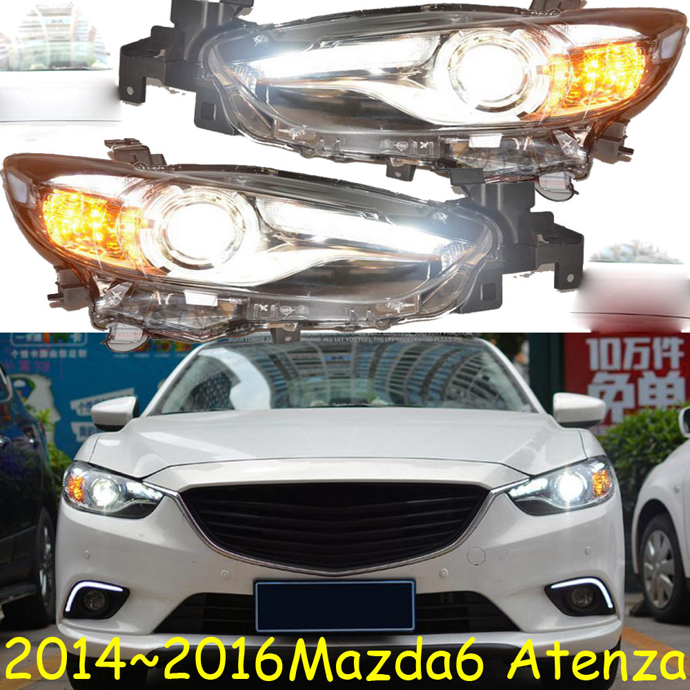 HID,2014~2016,Car Styling,Mazd6 Atenza Headlight,Tribute,RX-7,RX-8,Protege,MX-3,Miata,CX-3,CX-5,Navajo,Mazd6 Atenza head lamp mazd6 atenza taillight sedan car 2014 2016 free ship led 4pcs set atenza rear light atenza fog light mazd 6 atenza axela cx 5