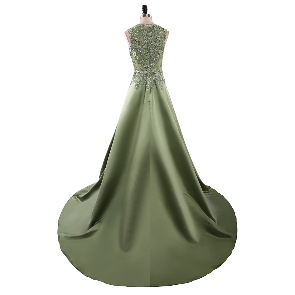 1a86cebb1 رائعة Vestido دي فيستا الحرير الرباط يزين طويل مساء فساتين 2019 V ...