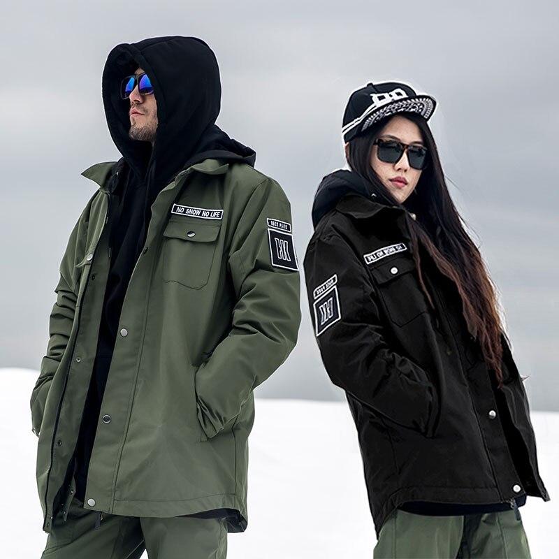 2017 Doorek Professional Men Women Winter Ski Jacket Warm Waterproof Breathable Skiing Snowboard Clothing Hooded Jacket