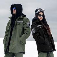 2017 doorek Профессиональный Для мужчин Для женщин зимняя Лыжная куртка теплая Водонепроницаемый дышащая Лыжный спорт Сноуборд Костюмы куртка