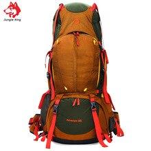 Jungle King 2017 Al Aire Libre profesional bolso del alpinismo 80L mochila pesada de gran capacidad necesaria deportes de excursión que acampa