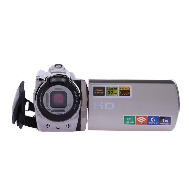 Détail 1080P Usb2.0 intelligent sans fil Wifi Dvr Hdv-6052Sr 3 pouces 16X Wi-Fi numérique Ir caméra de nuit Hd 1080P 8Mp caméscope vidéo - 3