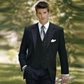 Classic negro hombres trajes esmoquin para los hombres con muesca Solapa hombres Wedding los trajes novios trajes de tres piezas Traje (Chaqueta + pantalones + chaleco) (1)