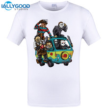 2017 Newest Men Horror Movie The Massacre Machine Printed T Shirt Sleeve O-Neck Brand T-Shirt Male Clothes Cool Hipster Top Tees