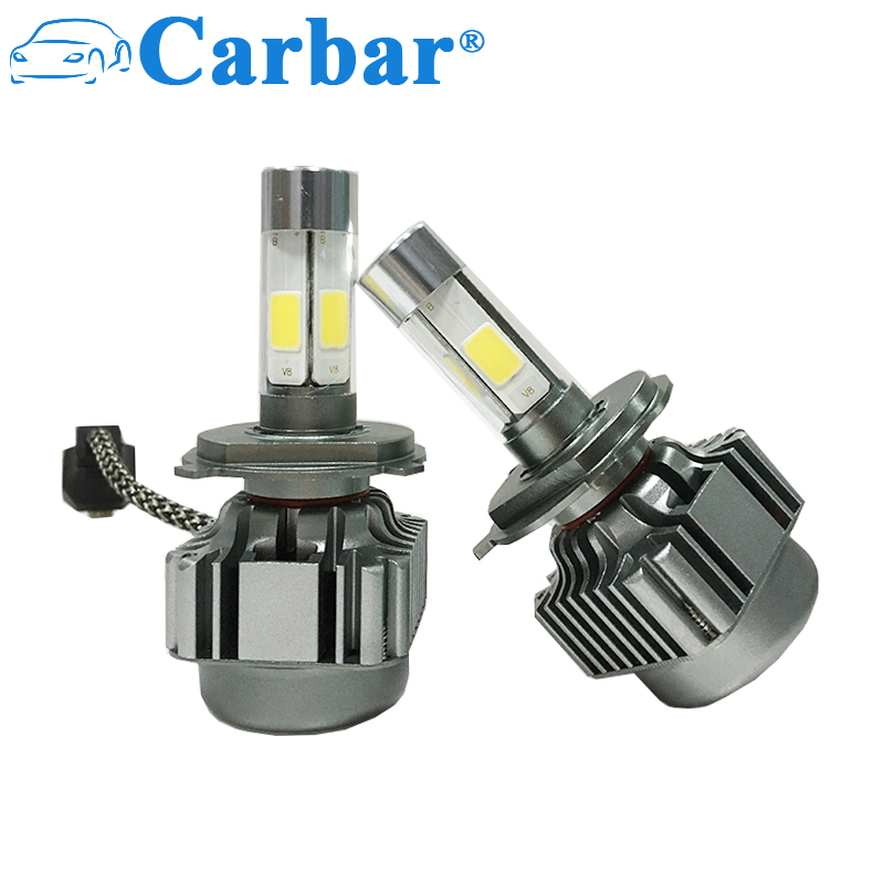 V8 Car H4 LED Bulb 80W 8000LM/set Super Bright H4 High/Low Beam 360 Degree 4 Leds LED Headlight Bulb H1 H3 H7 H8 H11 9005 9006 3pcs lot hss steel large step cone titanium coated metal drill bit cut tool set hole cutter 4 12 20 32mm wholesale