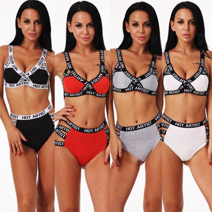 1 Set Sports Bra Fitness Woman Tops Women Sexy Sport Bandage Lingerie  Corset Push Up Underwear ... 0eb96ac88