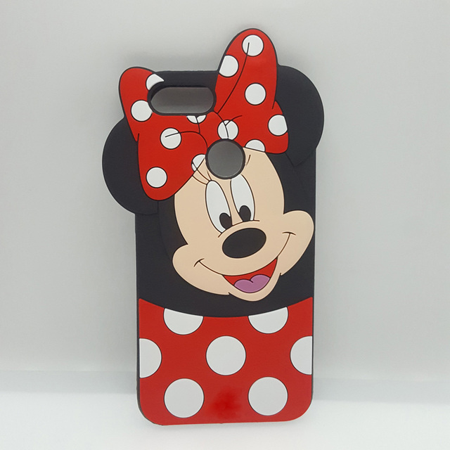 3d Cartoon Mickey Minnie Mouse Bow Knot Soft Silicone Phone Case For