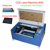 40W CO2 Laser Engraving Machine 3040 laser cutter machine can add rotary axis free tax to RU