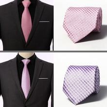 2019 New Silk Tie for Man Jacquard 8 cm Fashion Floral Flower Pasiley tie Business Wedding Party Necktie Cravat Gift Men