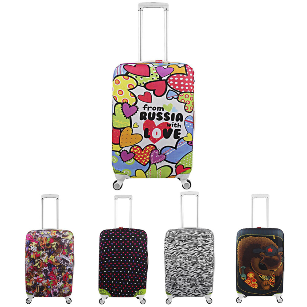 travel secret travel suitcase covers - Thicker Travel Suitcase Protective Cover Luggage Case Travel Accessories Elastic Luggage Dust Cover Apply to 18-32 Suitcase