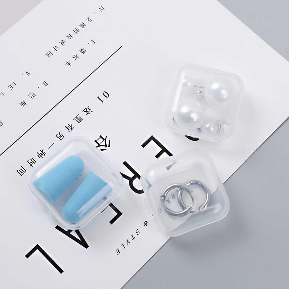 10pcs Farmácia Drug Classificação caixa de Armazenamento Caixa de Jóias Portátil de Plástico Transparente Caixa de Peças Caixa de Armazenamento De Parafuso Eletrônico