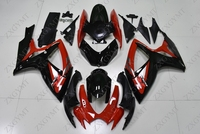 Body Kits GSXR750 2006 2007 K6 Red Black 5 Full Body Kits GSXR600 07 Motorcycle Fairing GSXR 600 06