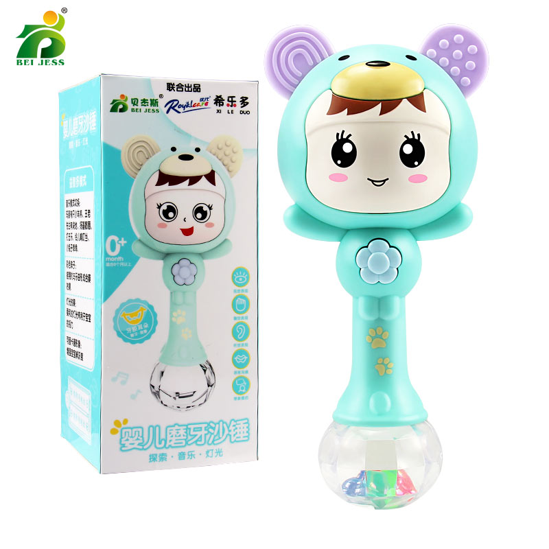 BEI JESS baby rattles music party 0-year-old dynamic rhythm plastic lighting early childhood sand hammer toys for newborn