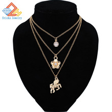 Chains Necklaces Bohemian Style Multilayer Necklace Pendant Accessories for Women