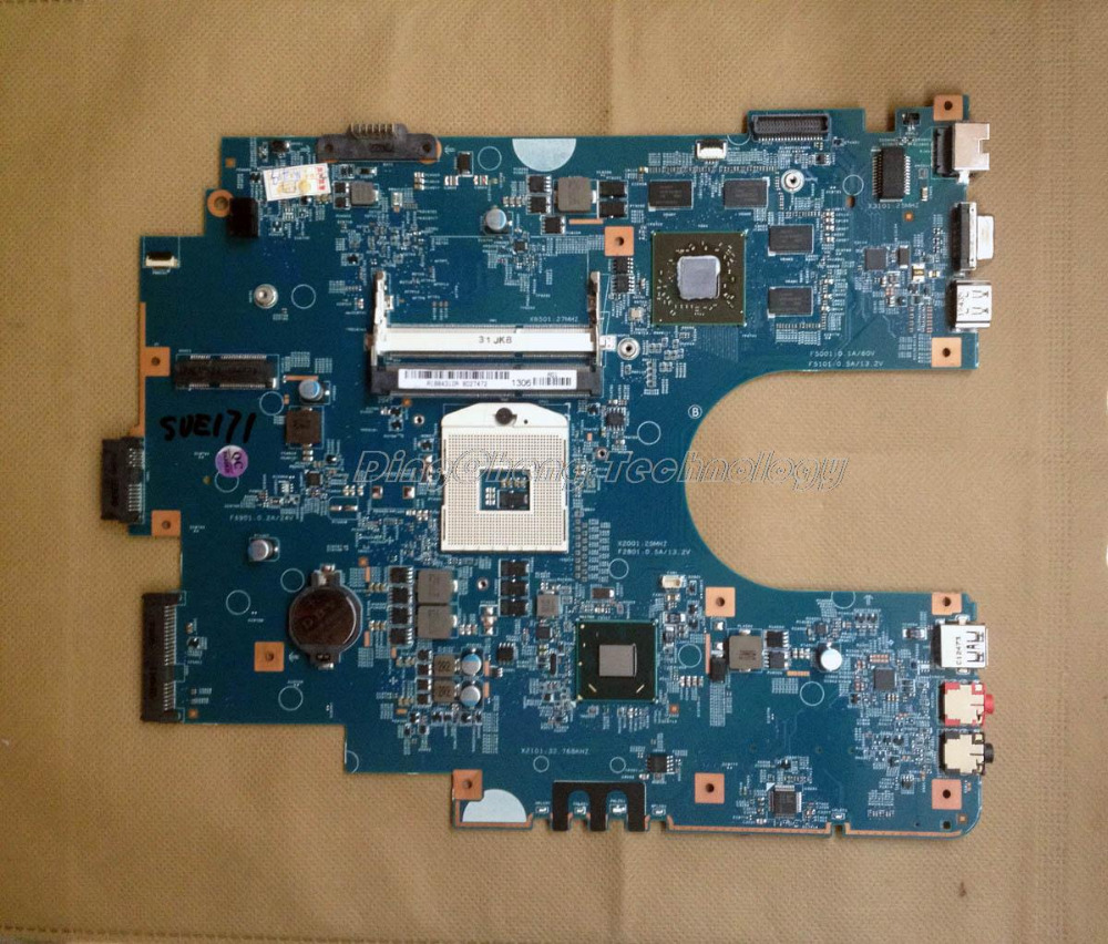SHELI MBX 267 laptop Motherboard For Sony SVE171 MBX 267 SR041 48.4MR05.021 for intel cpu with non integrated graphics card DDR3