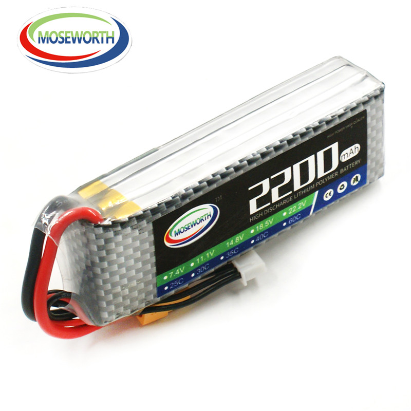 MOSEWORTH RC Lipo battery 3S 11.1V 2200mah 30C-60C for RC Helicopters Car Airplanes Drone FPV li-po batteria 3s xxl rc lipo battery 2200mah 11 1v 3s 30c for trx 450 rc fixed wing helicopters airplanes cars