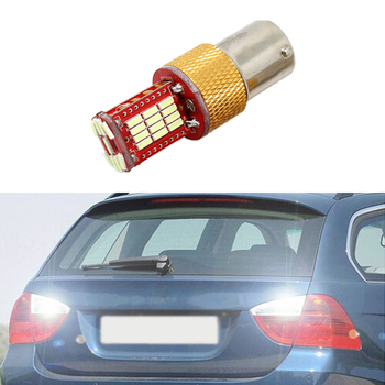 1x New White 1156 BA15S P21W LED Car Bulb Reverse Light For BMW 3/5 SERIES E30 E36 E46 E34 X3 X5 E53 E70 Z3 Z4 image