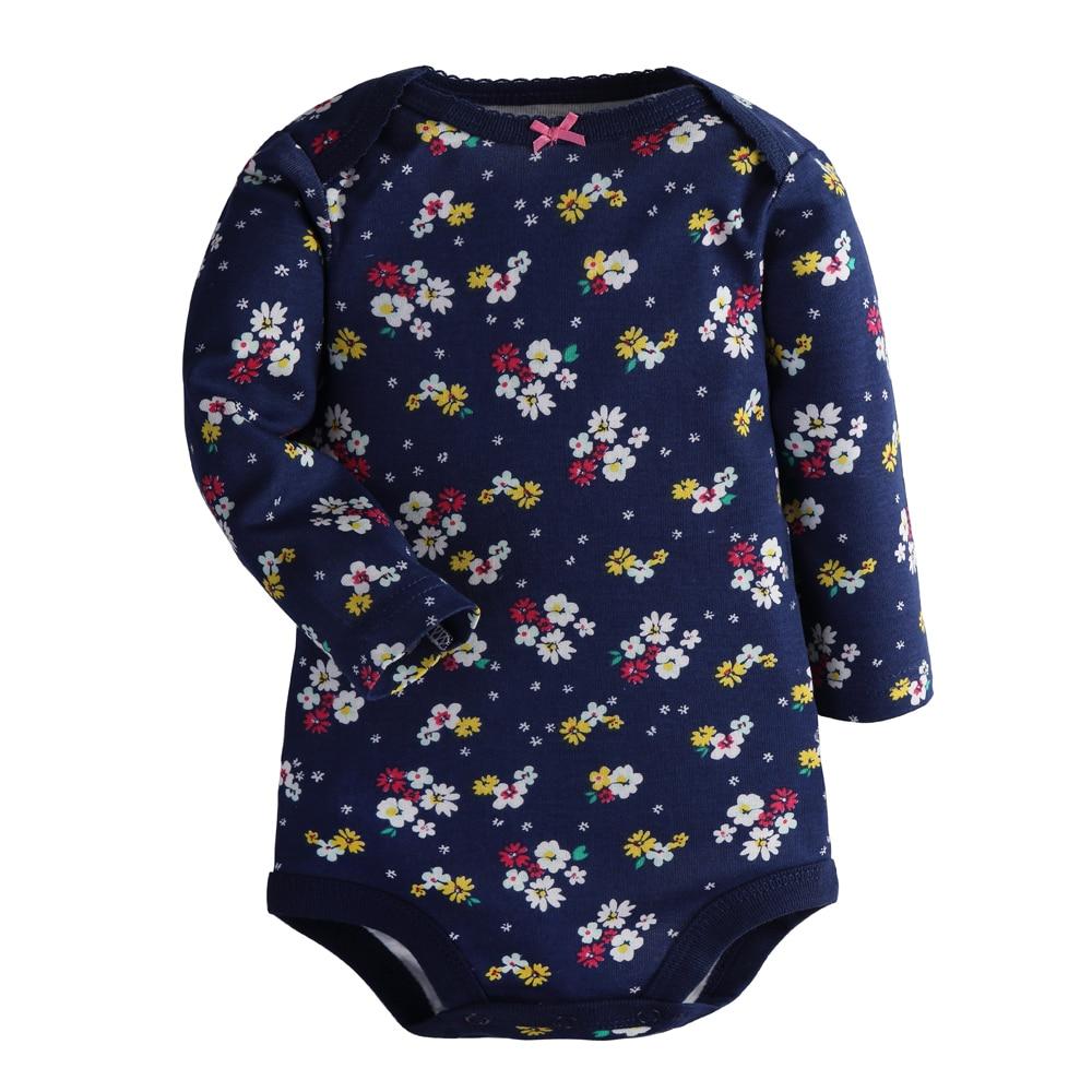 4Pcs Lot Cotton Baby Bodysuits Long Sleeve Baby Jumpsuits
