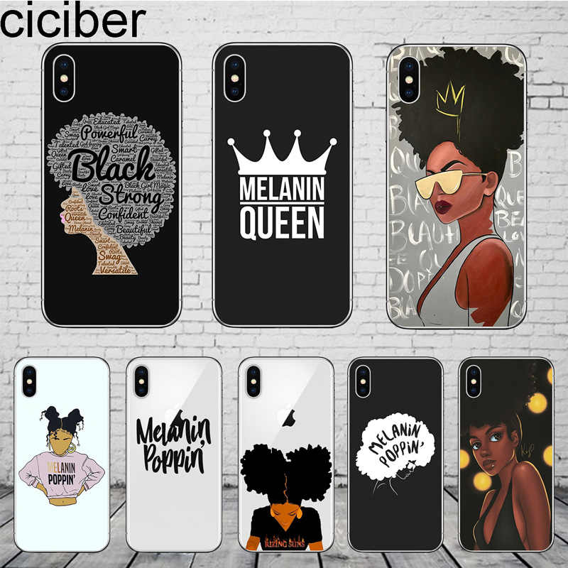 ciciber Melanin Poppin For iphone 11 Pro Max Cover For iPhone 8 7 6 6S Plus X XR XS MAX 5 5S SE Phone Case Soft TPU Coque Shell