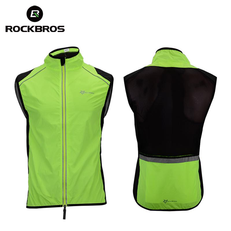ROCKBROS Cycling Bike Bicycle Jersey Men Vest Sportswear Jacket Coat Breathable Reflective Riding Bike Equipment Sleeveless Vest