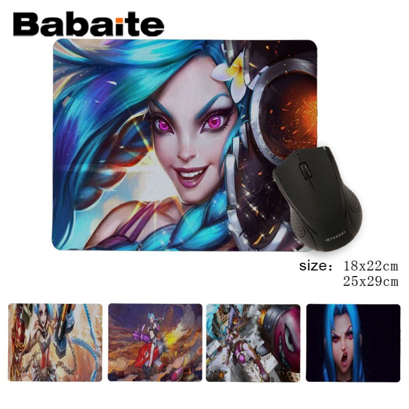 Babaite league of legends jinx Customized MousePads Computer Laptop Anime Mouse Mat Custom Your Styles Non-Slip Mouse Pad