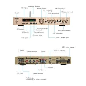 Image 5 - SUNBUCK 5 CH ハイファイ Bluetooth ステレオ AV アンプホームシアターオーディオプロのカラオケラジオ Bluetooth の電源アンプ 300 ワット