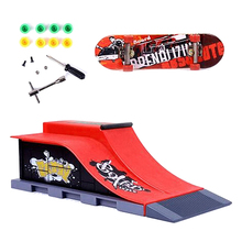 Skate Park Ramp Parts for Fingerboard Ultimate Parks Red(China)
